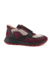 Pantofi barbati Enzo Bertini bordo cu negru din piele intoarsa 2529BP4201VBO
