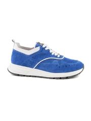 Pantofi barbati Ezno Bertini albastru electric cu alb din piele intoarsa 2529BP5925VBT