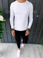 Bluza barbati slim fit alba ZR A6438 O1-1