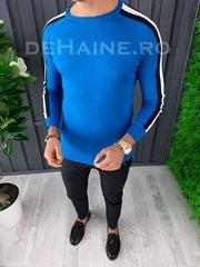 Bluza barbati slim fit albastra ZR A3644 N7-1