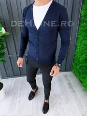 Bluza barbati slim fit bleumarin ZR A6443 O3-3