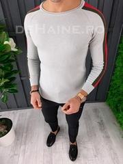Bluza barbati slim fit gri ZR A3651 N7-3