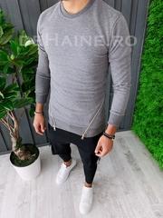 Bluza barbati slim fit gri ZR A6232 J2-2