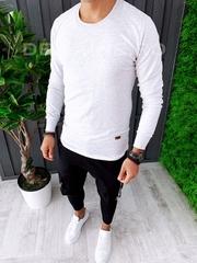 Bluza barbati slim fit gri ZR A6262 O3-2