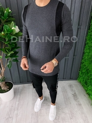 Bluza barbati slim fit gri ZR A6848 107-2
