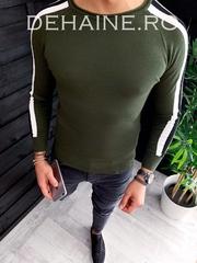 Bluza barbati slim fit kaki ZR 3645 N6-1