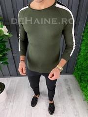 Bluza barbati slim fit kaki ZR A3645 N6-1