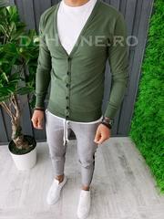 Bluza barbati slim fit kaki ZR A6269 O2-3