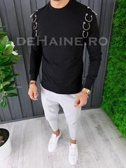 Bluza barbati slim fit neagra premium ZR A6627 108-1