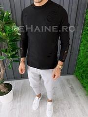 Bluza barbati slim fit neagra premium ZR A6630 106-2