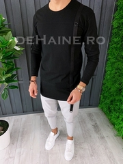 Bluza barbati slim fit neagra premium ZR A6631 108-4