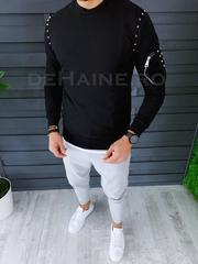 Bluza barbati slim fit neagra ZR A2569 I8-4