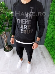 Bluza barbati slim fit neagra ZR A6259 D9-2