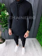 Bluza barbati slim fit neagra ZR A6847 96-3