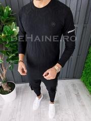 Bluza barbati slim fit neagra ZR A6849 108-2 /W