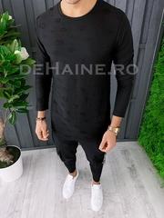 Bluza barbati slim fit neagra ZR A6851 P1-5