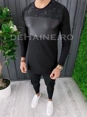 Bluza barbati slim fit neagra ZR A6856 102-2