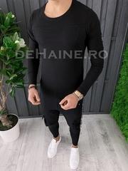Bluza barbati slim fit neagra ZR A6859 102-2