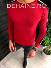 Bluza barbati slim fit rosie ZR 3646 N7-2