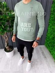 Bluza barbati slim fit verde ZR A6261 D9-3