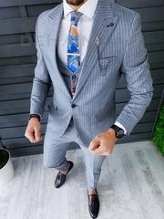 Costum barbati slim fit + Vesta ZR A8667 S17