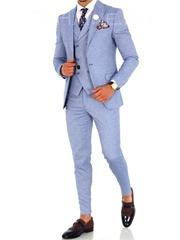 Costum barbati + Vesta slim fit ZR A1724 S15