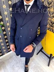 Palton barbati iarna bleumarin A2932 T2