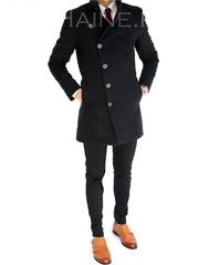 Palton barbati iarna negru 7396 I6-3