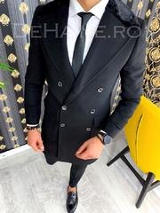 Palton barbati iarna negru A2929 T2