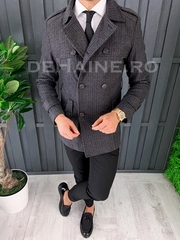 Palton barbati primavara slim fit A7886 S34