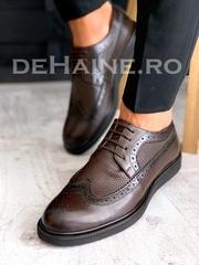 Pantofi barbati maro din piele naturala A3678