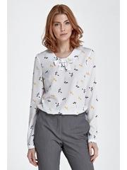 Bluza cu funda si print Lorena