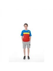 Set pentru copii tricou si pantaloni model Romania bumbac editie aniversara doua piese slim fit ES813RO1811