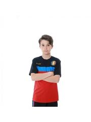 Set pentru copii tricou si pantaloni model Romania bumbac editie aniversara doua piese slim fit ES813RO1812