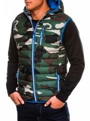Vesta pentru barbati camuflaj stil militar army V24 verde