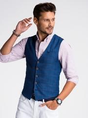 Vesta premium eleganta barbati V50 bleumarin
