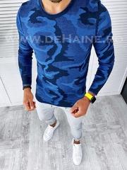 Bluza barbati bleumarin slim fit T3705 1-5