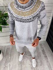 Bluza barbati gri slim fit 2598 i8-1*