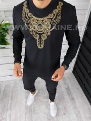 Bluza barbati neagra slim fit 2557 I7-4*