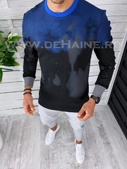 Bluza barbati neagra slim fit 2565 i12-4