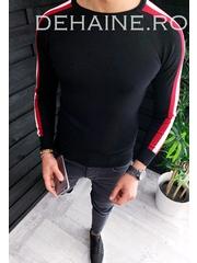 Bluza barbati slim fit neagra ZR 3649 O1-1