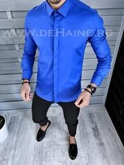 Camasa barbati albastra cu butoni slim fit B1326 W19-4