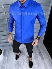Camasa barbati albastra slim fit B1358 K2-3