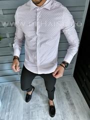 Camasa barbati cu imprimeu slim fit A1808 W17-3