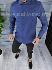 Camasa barbati eleganta albastra cu imprimeu slim fit A5100 W19-4