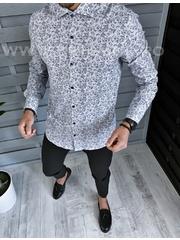 Camasa barbati eleganta cu imprimeu slim fit B1374 W16-1