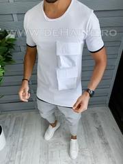 Tricou barbati alb slim fit Vagabond B1956 P17-4*