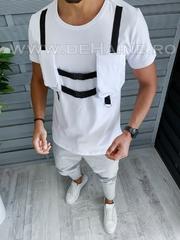 Tricou barbati alb slim fit Vagabond B1958 P15-3*