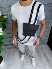 Tricou barbati alb slim fit Vagabond B1967 P10-5*