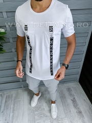 Tricou barbati alb slim fit Vagabond B1969 P10-4